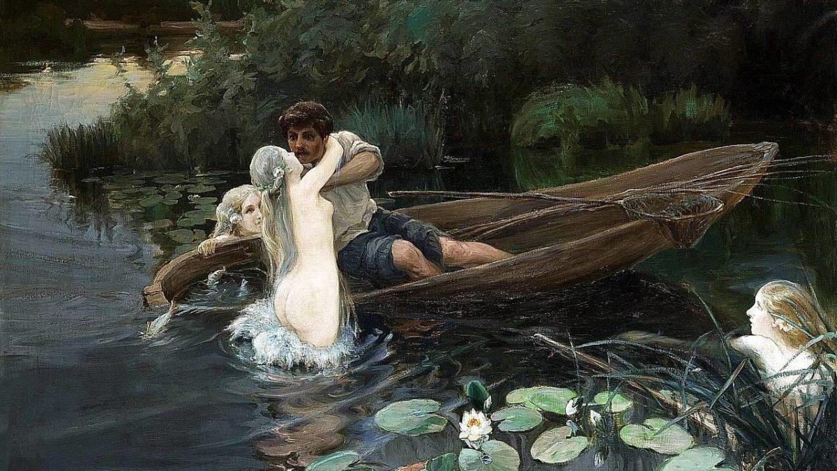 «В озере купалася русалка..»
